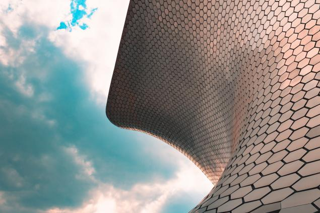 Illustrasjonsfoto av et spesielt tak som består av sekskanter