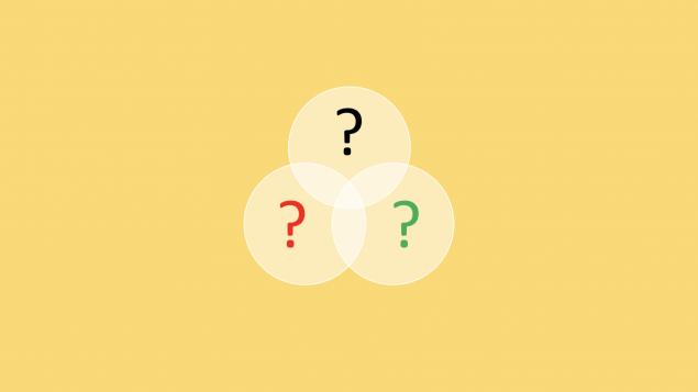 Tre spørsmålstegn.